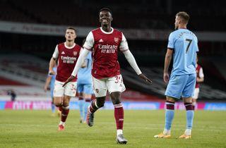 Indskiftede Nketiah reddede Arsenal