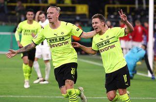 Thorgan Hazard i målhumør i BVB's pokalsejr