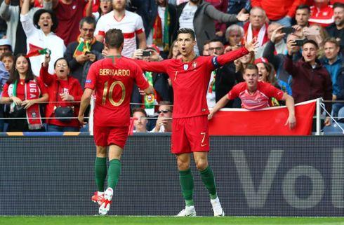 Smukt Ronaldo-lob nedlagde Luxembourg