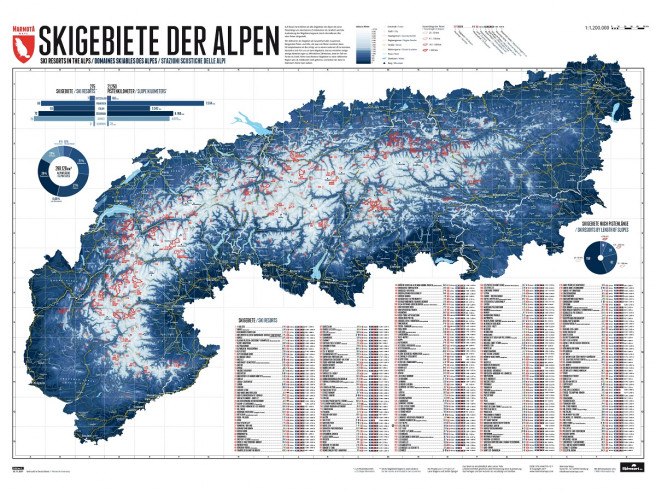 Poster Skigebieden Alpen