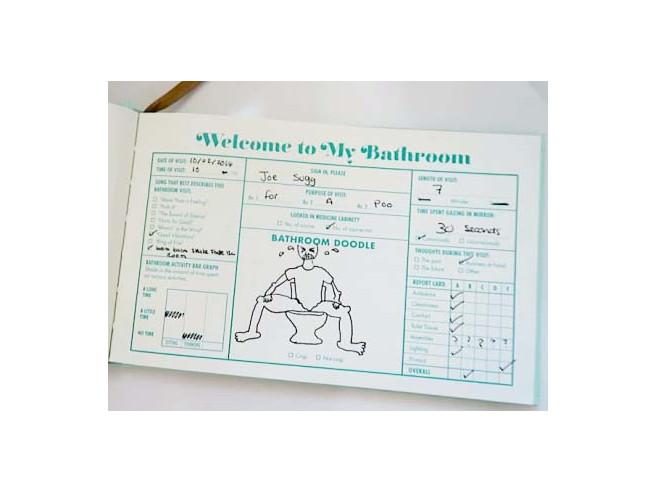 Toilet Guest Book