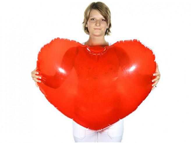 Aufblasbares XXL Herz