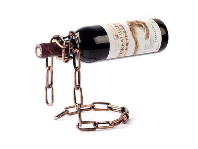 Weinflaschenhalter Kette