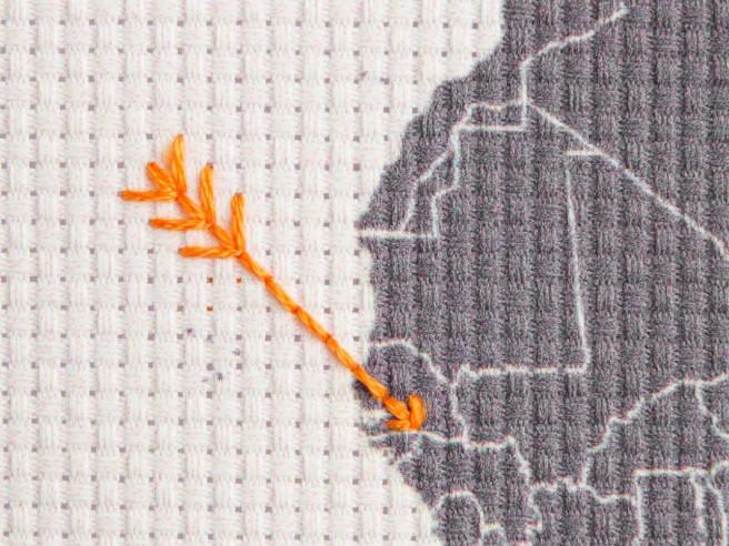 Carte Du Monde 'Stitch'