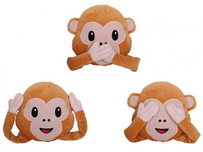 Emoticon Pillow Monkey