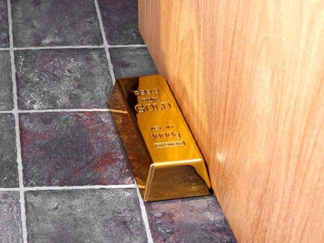 Goldbarren Tür-Stopper