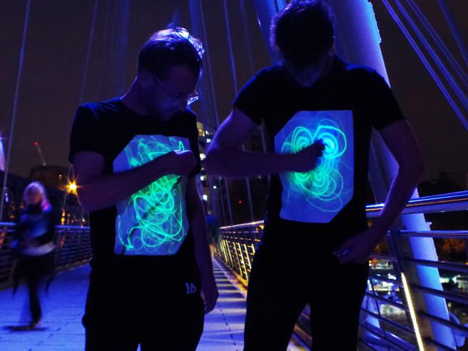 Interaktive Laser T-Shirts