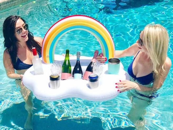 Regenbogen Getränkehalter Aufblasbar
