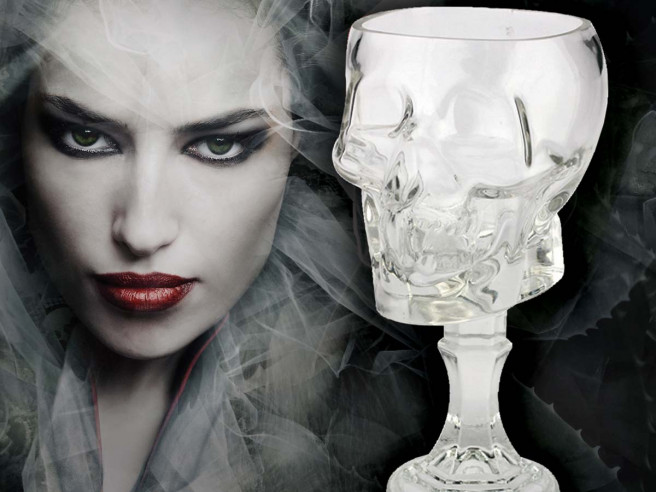 Glass Skull Goblet