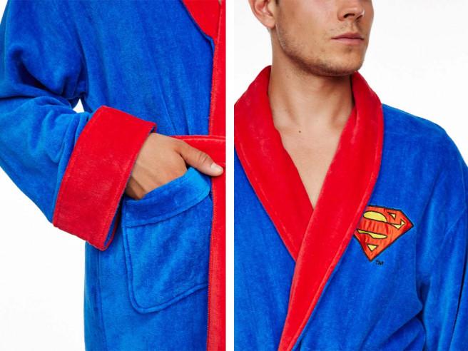 Superman Bademantel Fleece