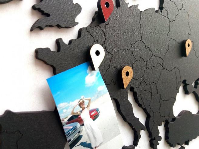 Luxus Holz-Puzzle Weltkarte