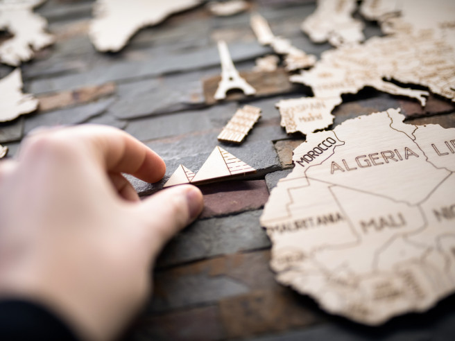 Wooden World Map 120x80cm
