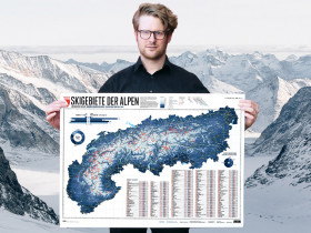 Poster Alps Ski Resorts