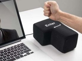 Coussin Touche Enter Anti-Stress USB