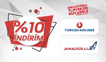 Türk Hava Yolları Biletlerinde Enflasyonla Mücadele İndirimleri