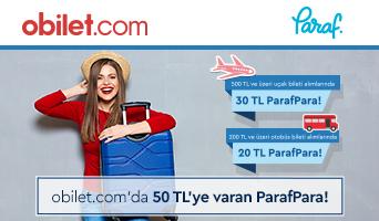 Paraf ile obilet.com'da 50 TL'ye Varan ParafPara Fırsatı!