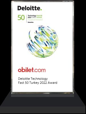 obilet.com - Deloitte Technology Fast 50 Turkey 2020 Ödülü