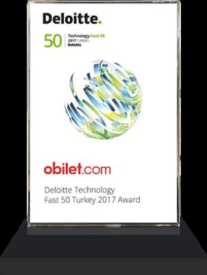 obilet.com - Deloitte Technology Fast 50 Turkey 2017 Ödülü