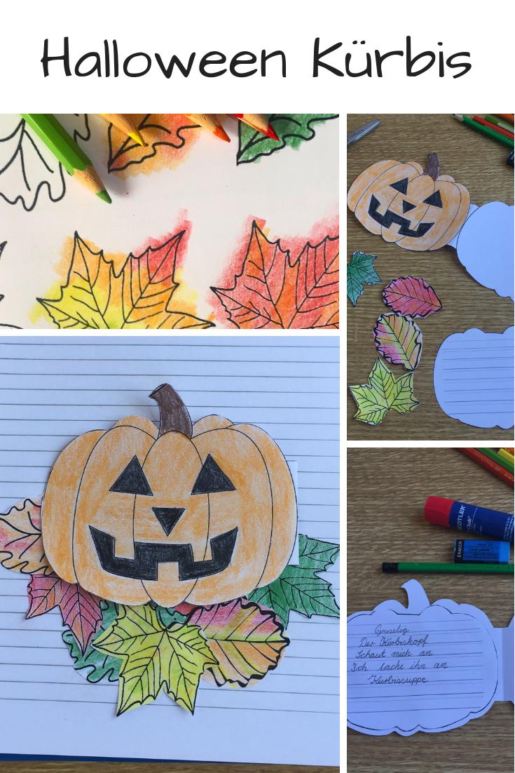 Halloween Kürbis Craftivity für Elfchen, Gedichte oder kleine ...