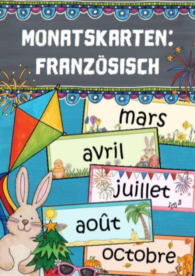 Monatskarten Französisch