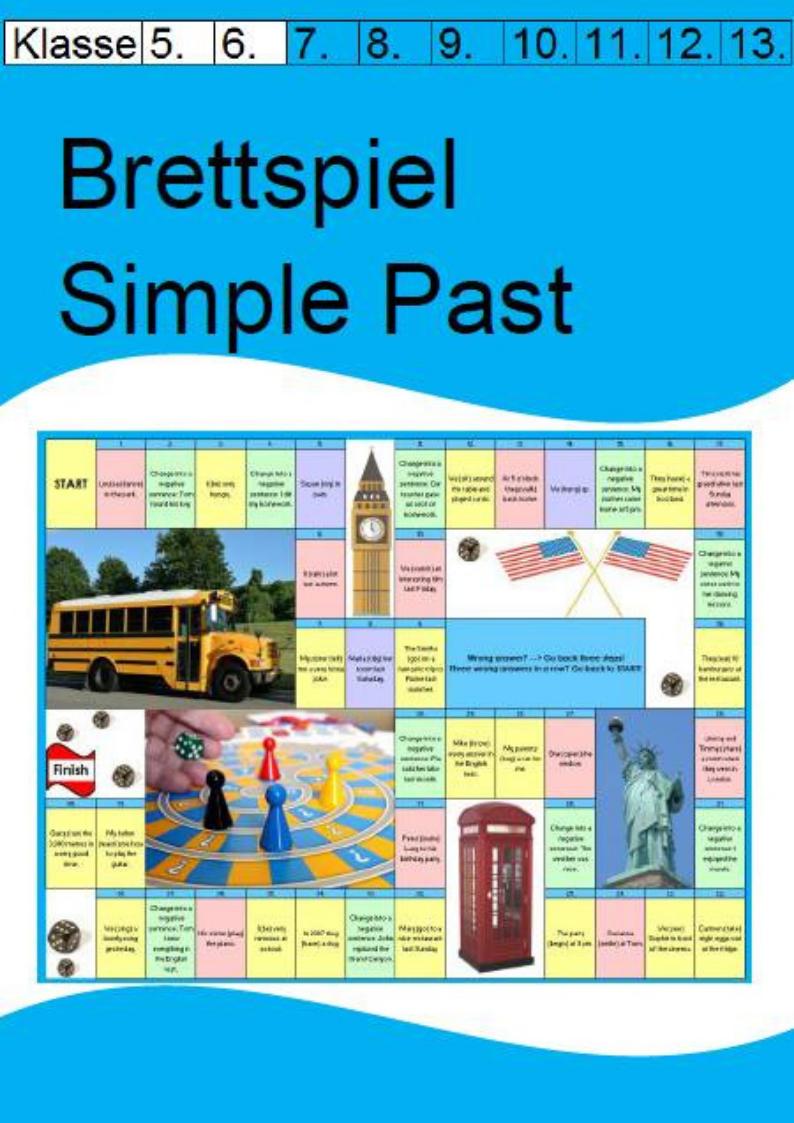 Brettspiel Simple Past Englisch Sekundarstufe
