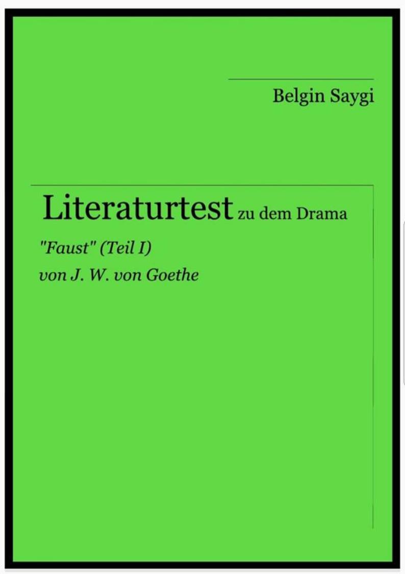Literaturtest zum Drama Faust