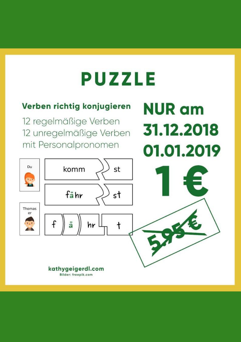 Verben richtig konjugieren Puzzle