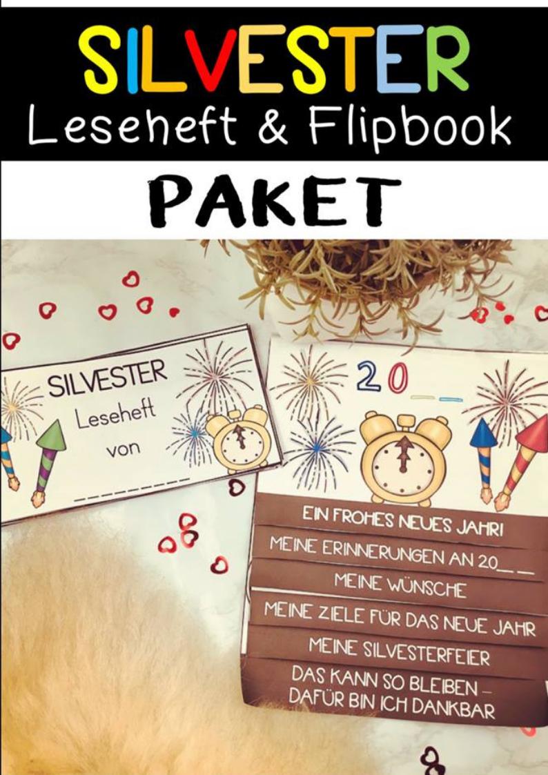 Silvester Leseheft und Flipbook