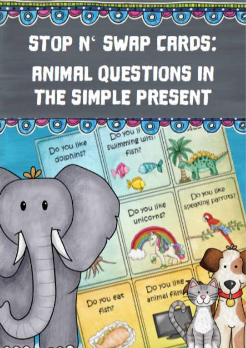 Stop n'swap cards Animal questions