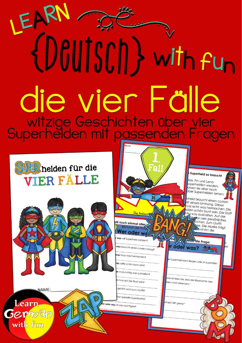 Die vier Fälle- Geschichten und Arbeitsblätter Grundschule