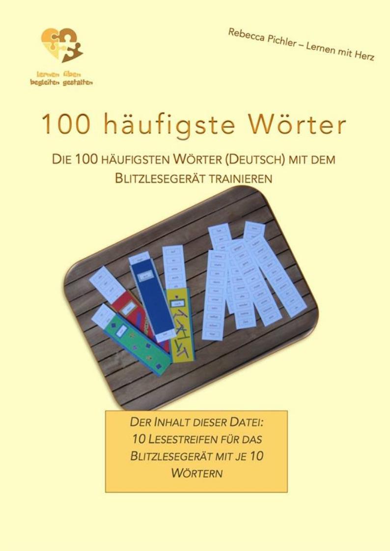 100 häufigste Wörter Blitzlesegerät