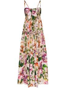 платье макси с цветочным принтом и завязками Dolce&Gabbana 144738225248