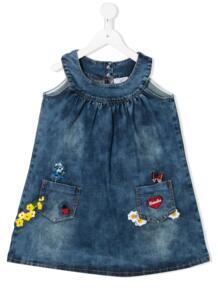 джинсовое платье с вышивкой Monnalisa 1479787554