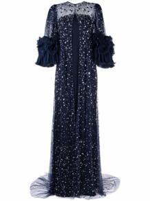 полупрозрачное платье Jenny Packham 1695946756