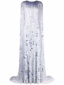 вечернее платье-кейп с пайетками Jenny Packham 1695947156