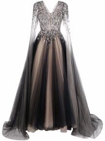 декорированное вечернее платье из тюля Jenny Packham 1696026656