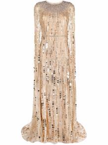 вечернее платье-кейп с пайетками Jenny Packham 1696027556