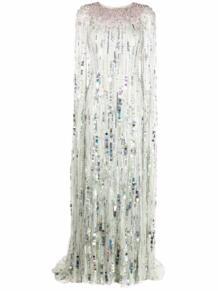 вечернее платье-кейп с пайетками Jenny Packham 1696027654
