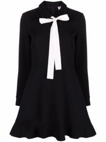 расклешенное платье с бантом RED VALENTINO 170691195156