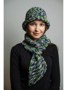 Шляпа с шарфом ИТАЛЬЯНСКАЯ МОЗАИКА Тамара Турьянова 4597248