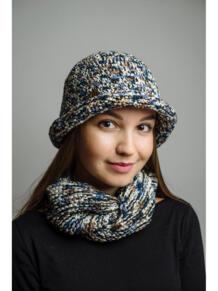 Шляпа с шарфом ИТАЛЬЯНСКАЯ МОЗАИКА Тамара Турьянова 4597252
