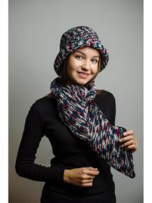 Шляпа с шарфом ИТАЛЬЯНСКАЯ МОЗАИКА Тамара Турьянова 4597256