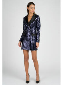 Платье-пиджак из пайеток Self Made 4872226