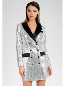 Платье-пиджак из пайеток Self Made 4872228