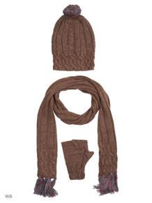 Набор из митенок, шапки, шарфа Mini 4929898