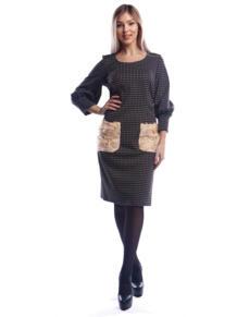 Платье с буфами LOVE CODE 5193415