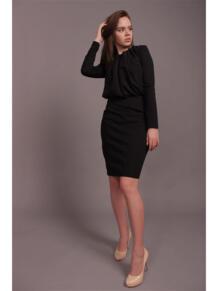 Платье-футляр с жабо EMMY 5232195