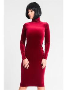 Платье-водолазка из бархата ZAIN. 5233421