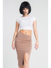 Ассиметричная юбка с молнией ZAIN. 5233432