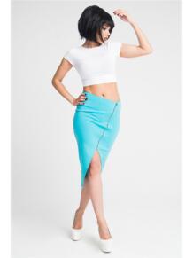 Ассиметричная юбка с молнией ZAIN. 5233440
